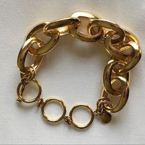 Vintage gold tone chain bracelet